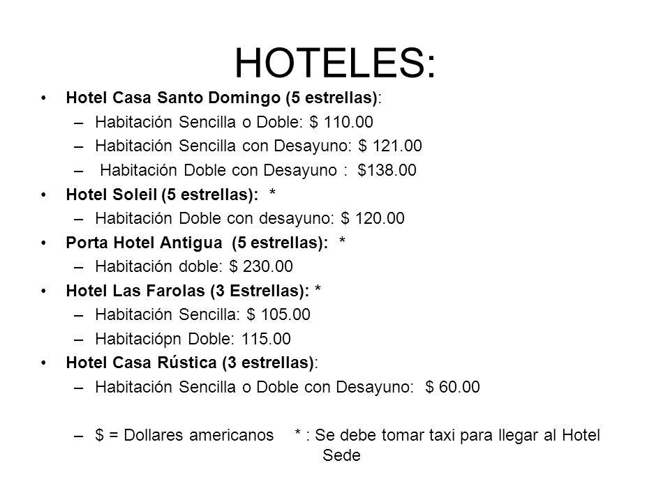 HOTELES: Hotel Casa Santo Domingo (5 estrellas):