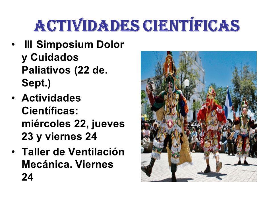 Actividades científicas