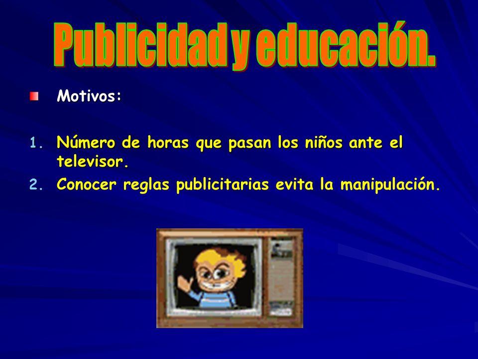 Publicidad y educación.