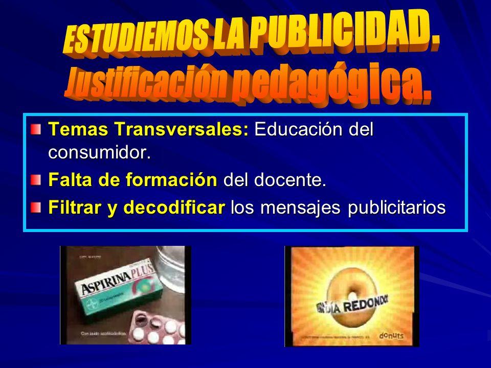 ESTUDIEMOS LA PUBLICIDAD. Justificación pedagógica.