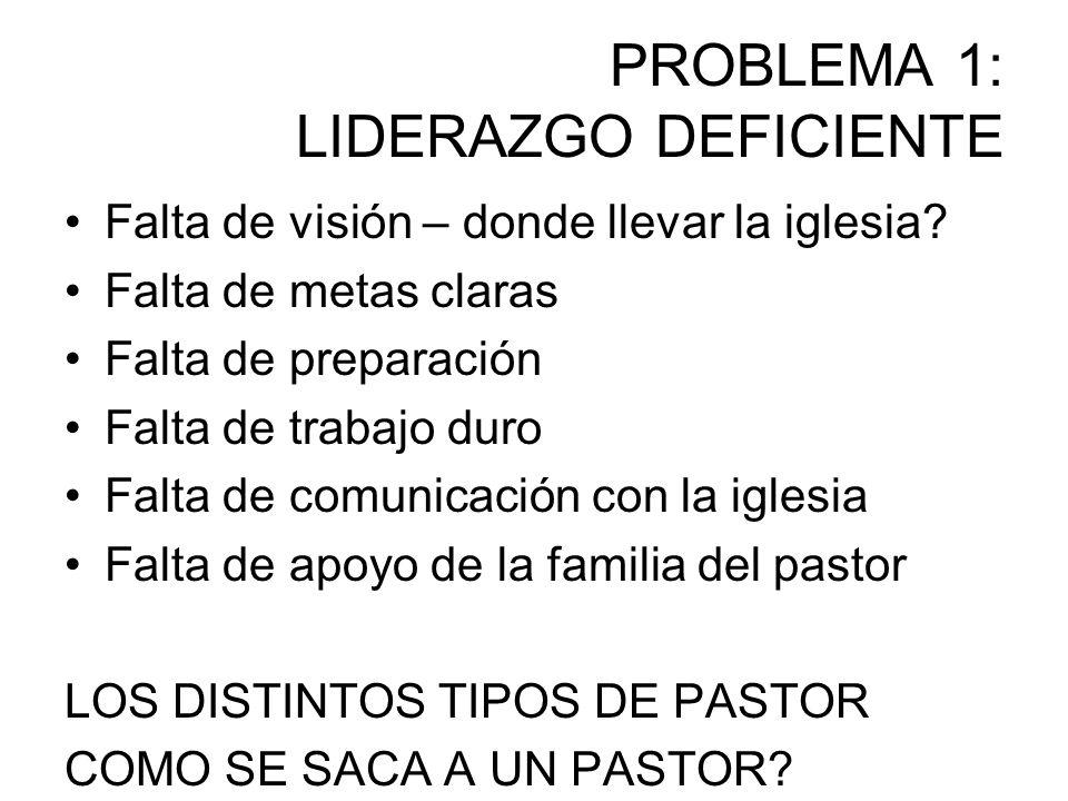 PROBLEMA 1: LIDERAZGO DEFICIENTE