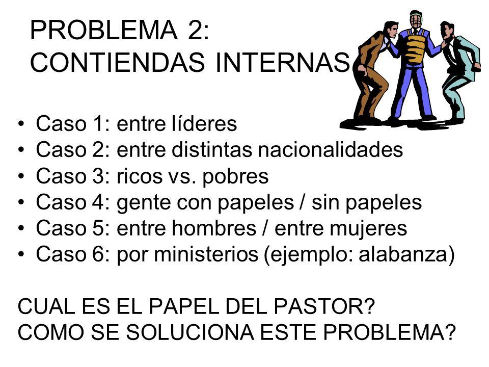 PROBLEMA 2: CONTIENDAS INTERNAS