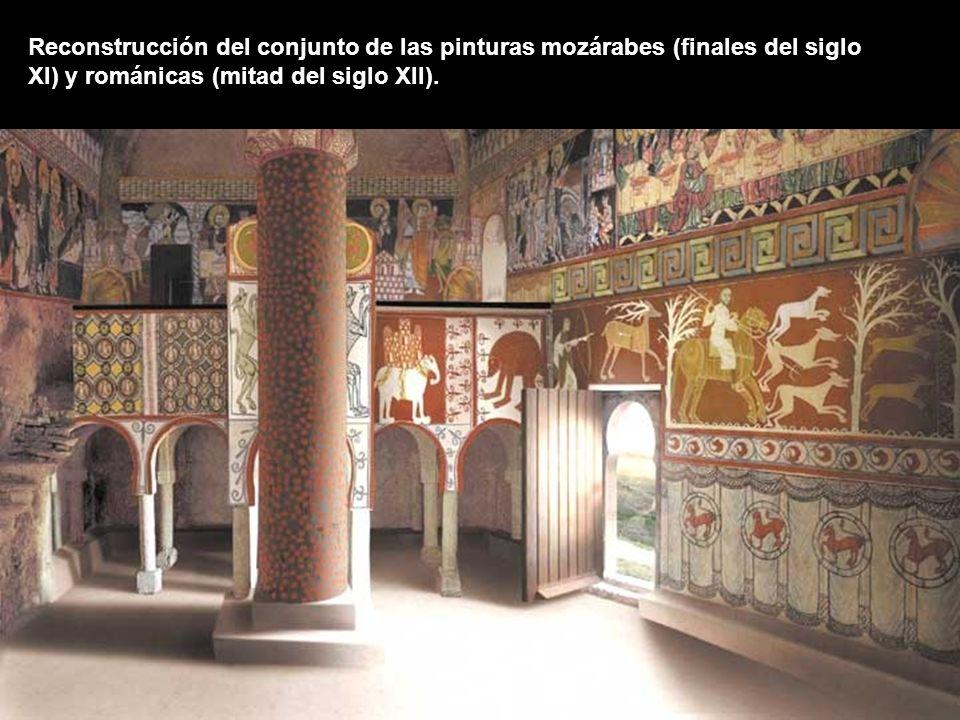 Reconstrucción del conjunto de las pinturas mozárabes (finales del siglo XI) y románicas (mitad del siglo XII).