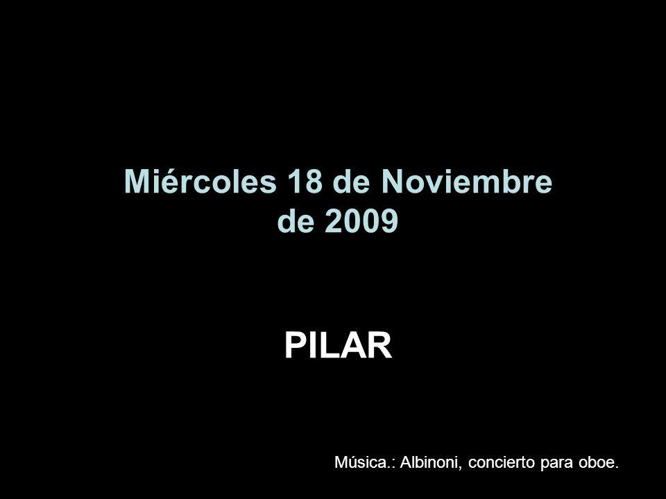 Miércoles 18 de Noviembre de 2009