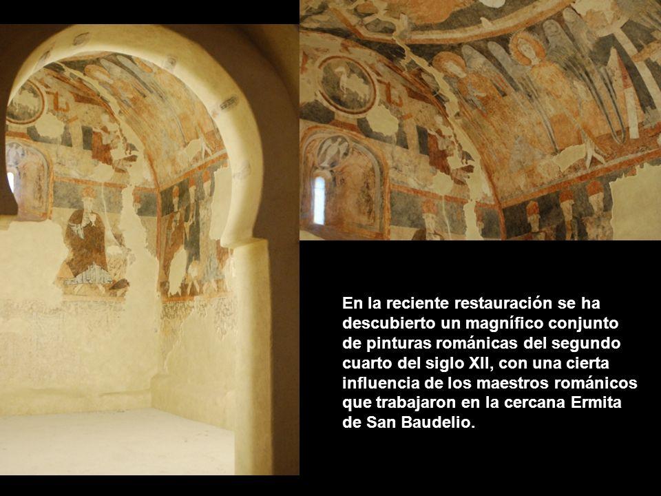 En la reciente restauración se ha descubierto un magnífico conjunto de pinturas románicas del segundo cuarto del siglo XII, con una cierta influencia de los maestros románicos que trabajaron en la cercana Ermita de San Baudelio.