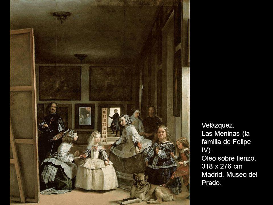 Velázquez. Las Meninas (la familia de Felipe IV).