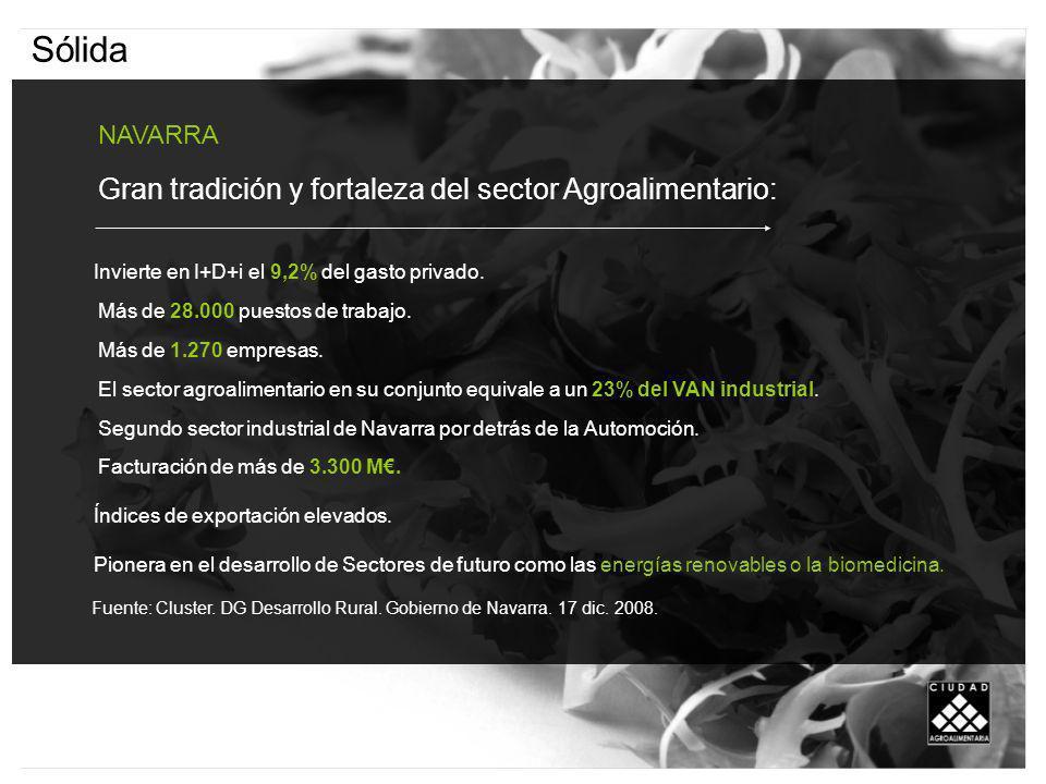 Sólida NAVARRA Gran tradición y fortaleza del sector Agroalimentario: