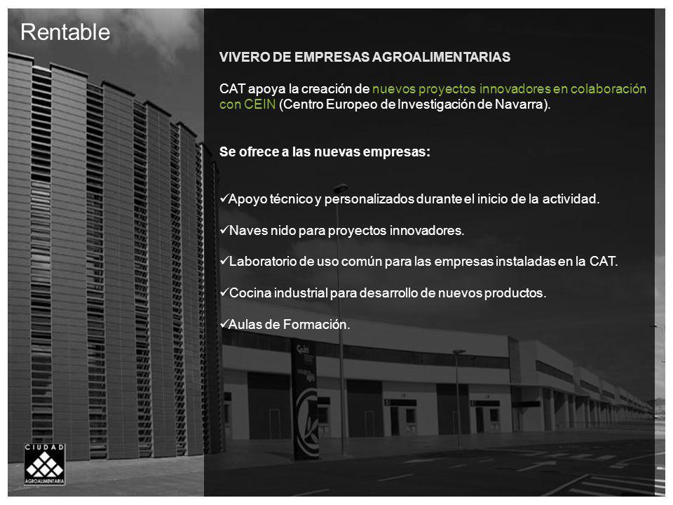 Rentable VIVERO DE EMPRESAS AGROALIMENTARIAS