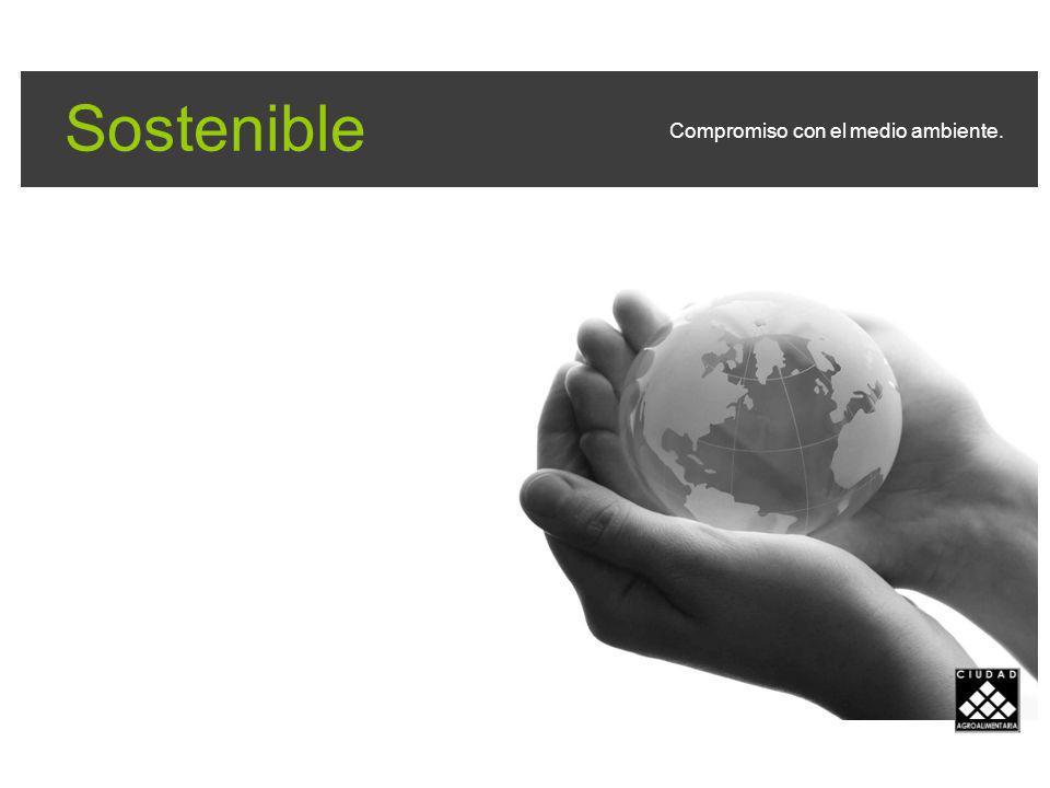 Sostenible Compromiso con el medio ambiente.