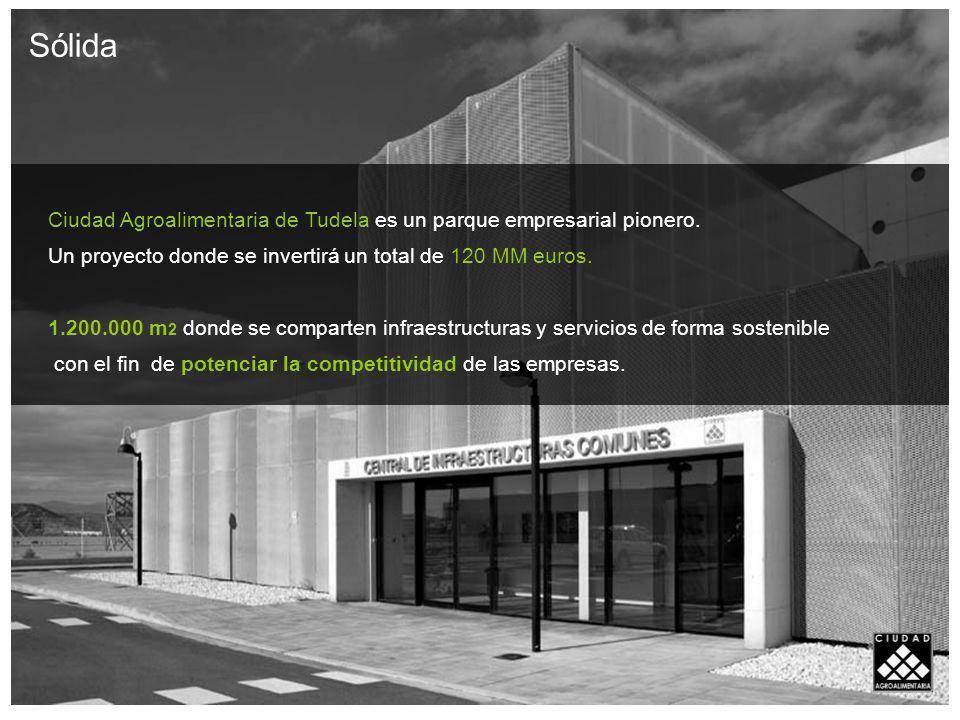 Sólida Ciudad Agroalimentaria de Tudela es un parque empresarial pionero. Un proyecto donde se invertirá un total de 120 MM euros.