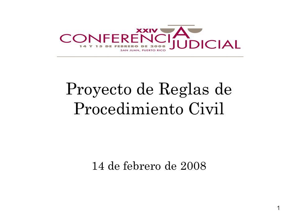Proyecto de Reglas de Procedimiento Civil