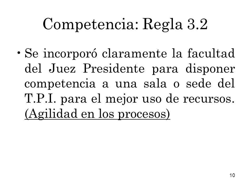 Competencia: Regla 3.2
