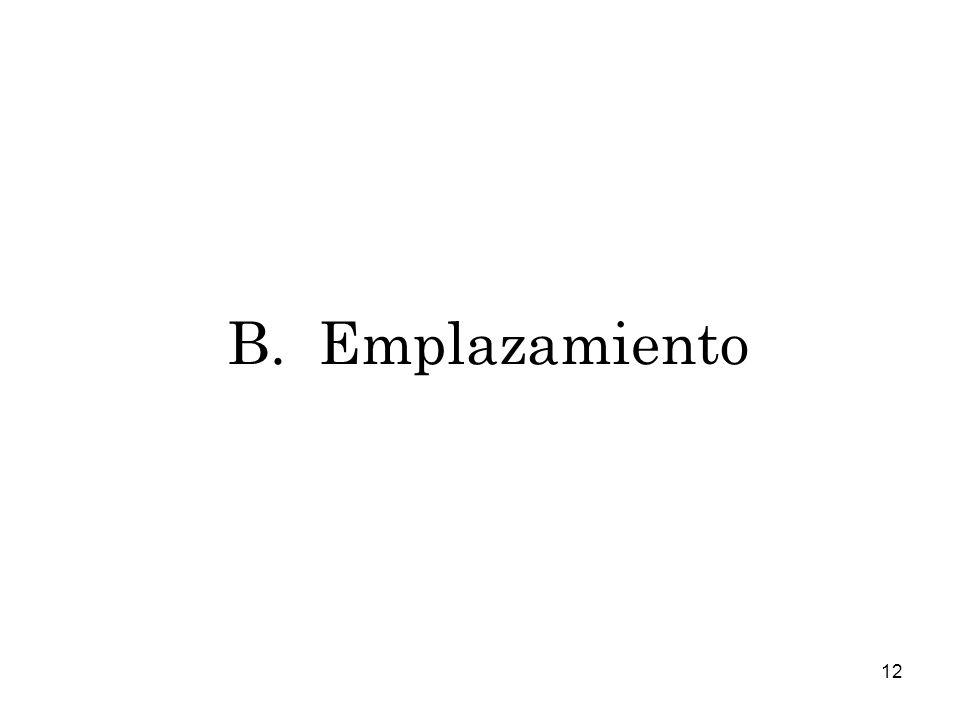 B. Emplazamiento
