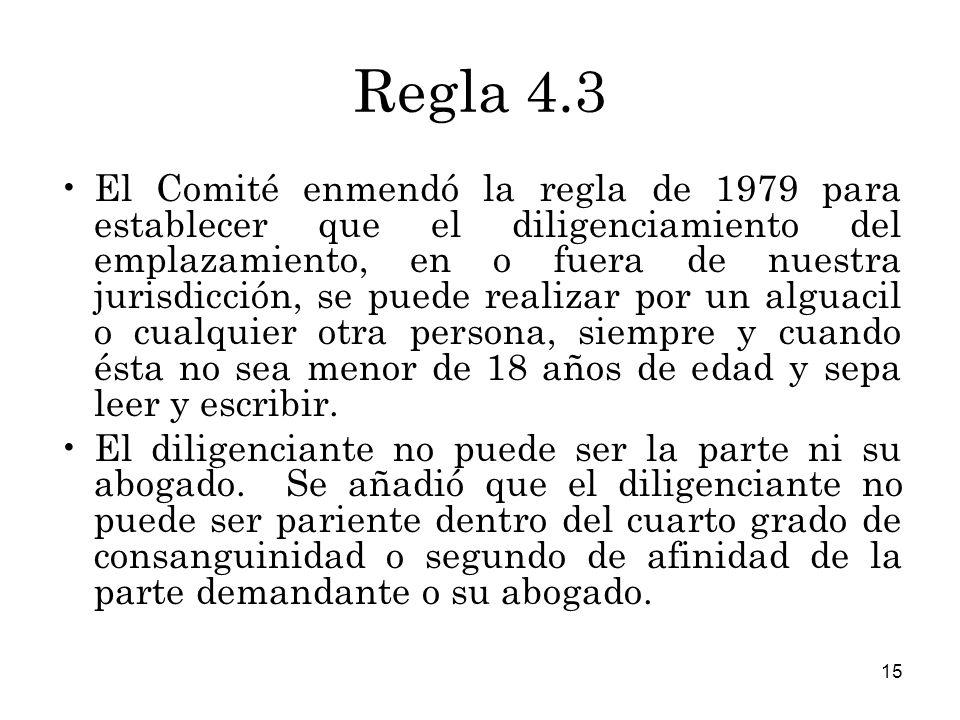 Regla 4.3