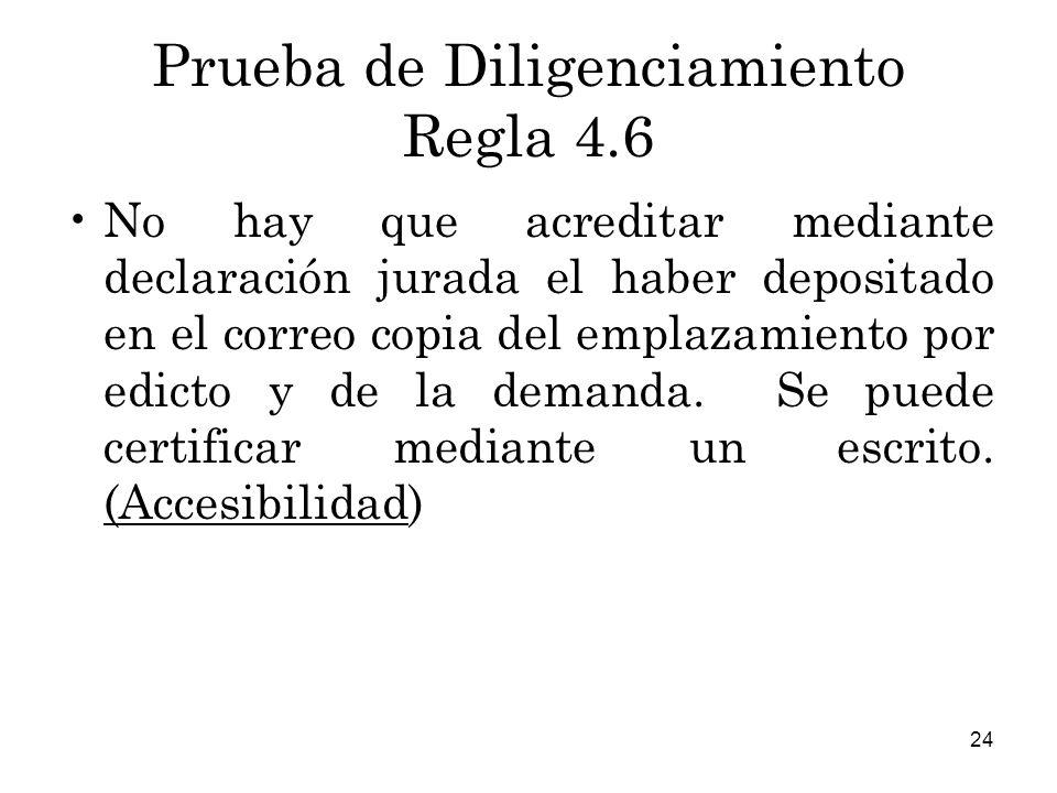 Prueba de Diligenciamiento Regla 4.6