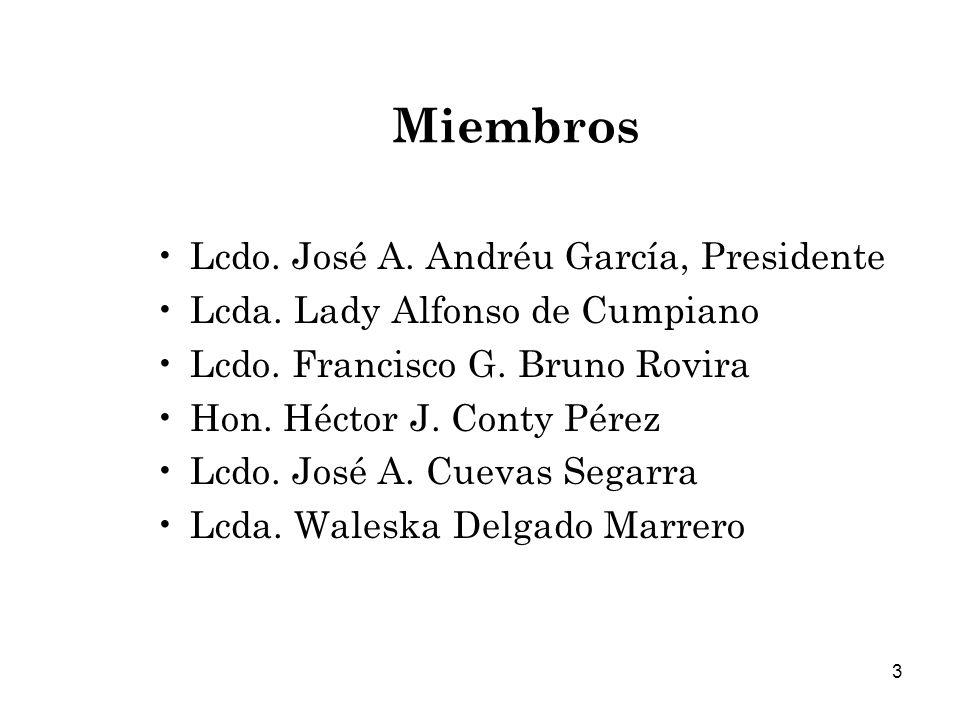 Miembros Lcdo. José A. Andréu García, Presidente