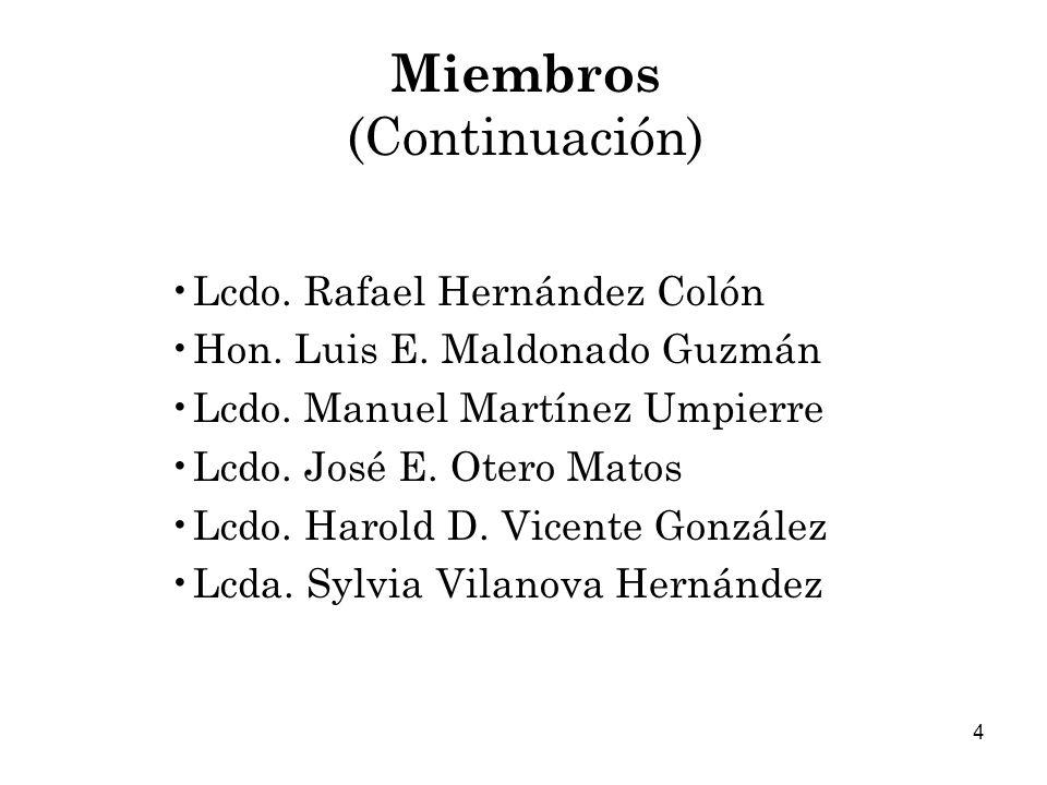 Miembros (Continuación)