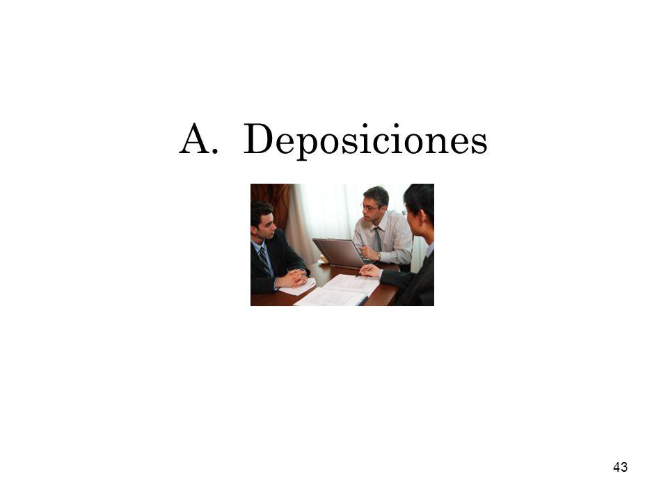 A. Deposiciones