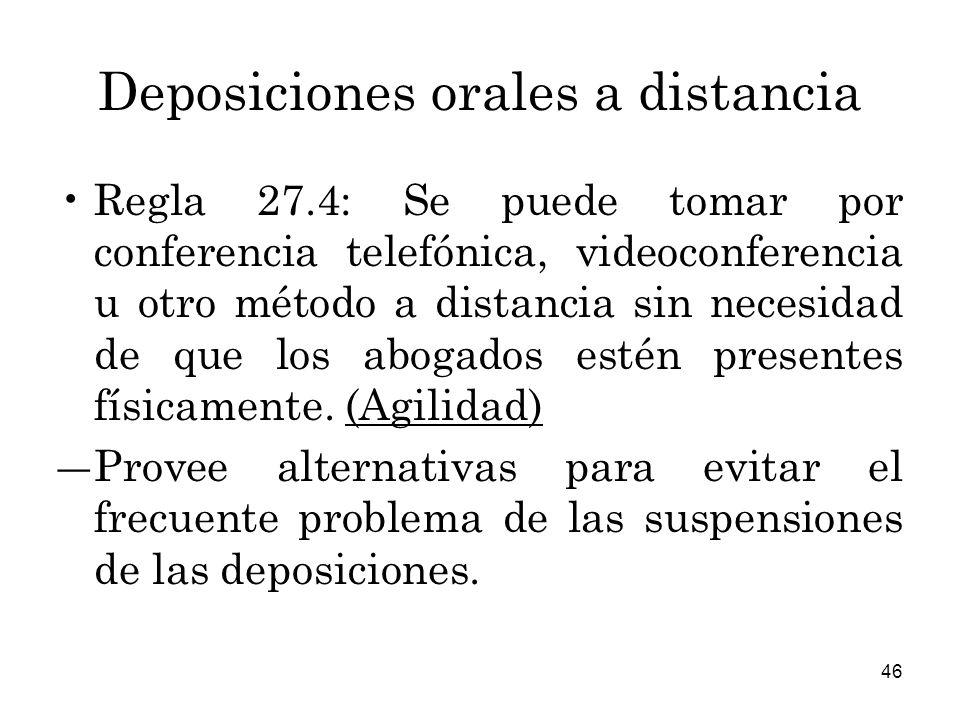Deposiciones orales a distancia