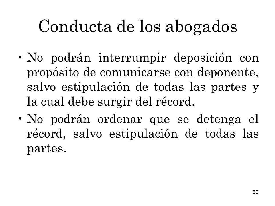 Conducta de los abogados