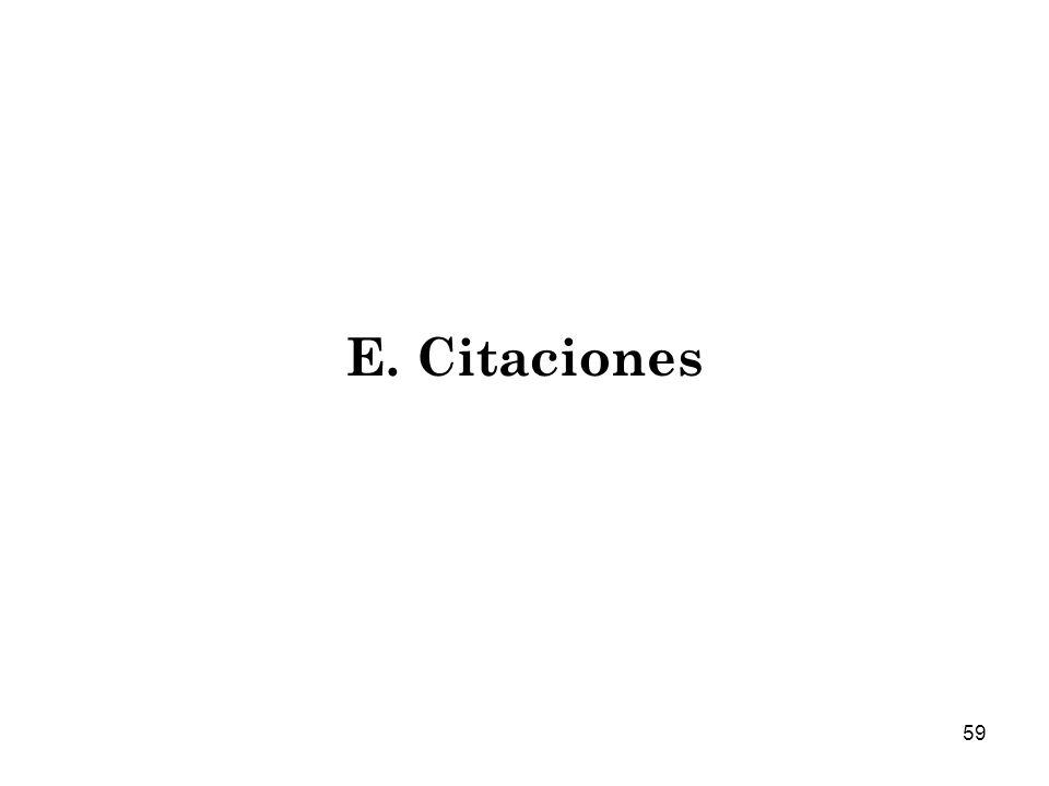 E. Citaciones