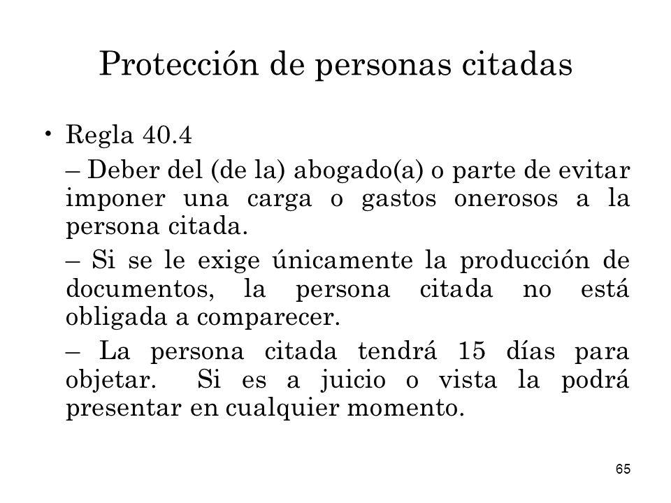 Protección de personas citadas