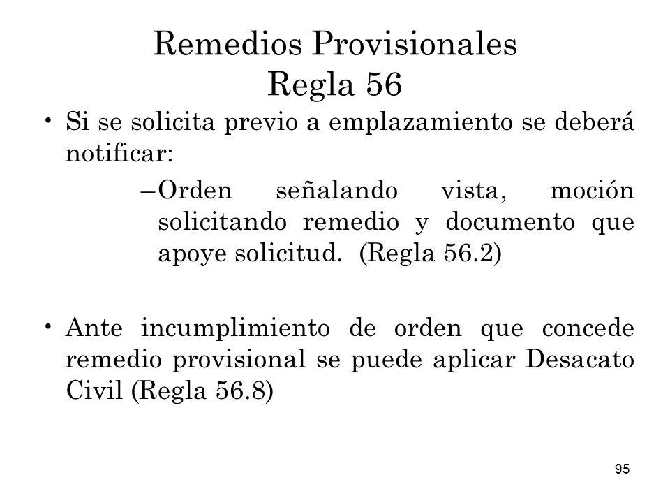 Remedios Provisionales Regla 56