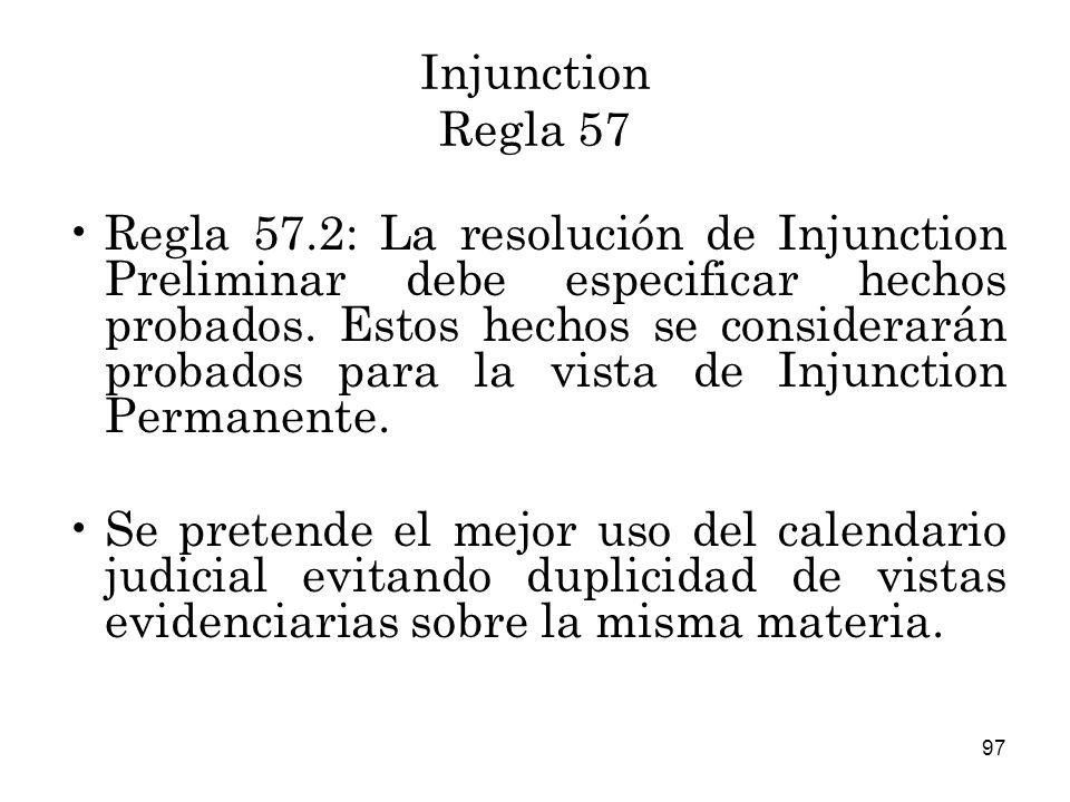 Injunction Regla 57
