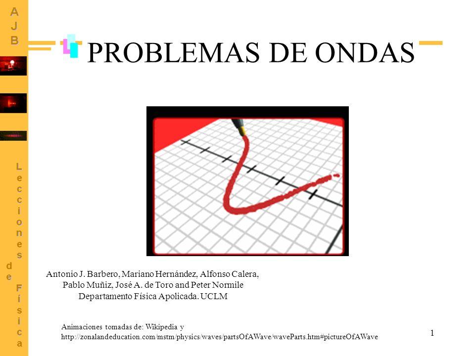PROBLEMAS DE ONDAS Antonio J. Barbero, Mariano Hernández, Alfonso Calera, Pablo Muñiz, José A. de Toro and Peter Normile.