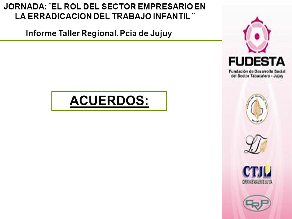 Informe Taller Regional. Pcia de Jujuy