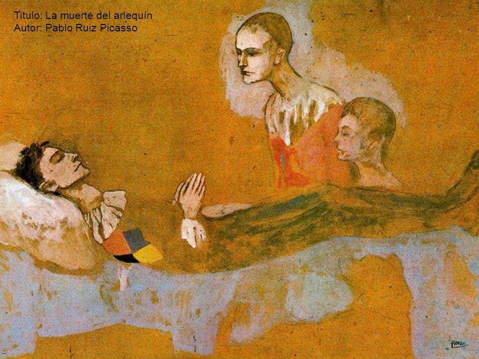 Titulo: La muerte del arlequín