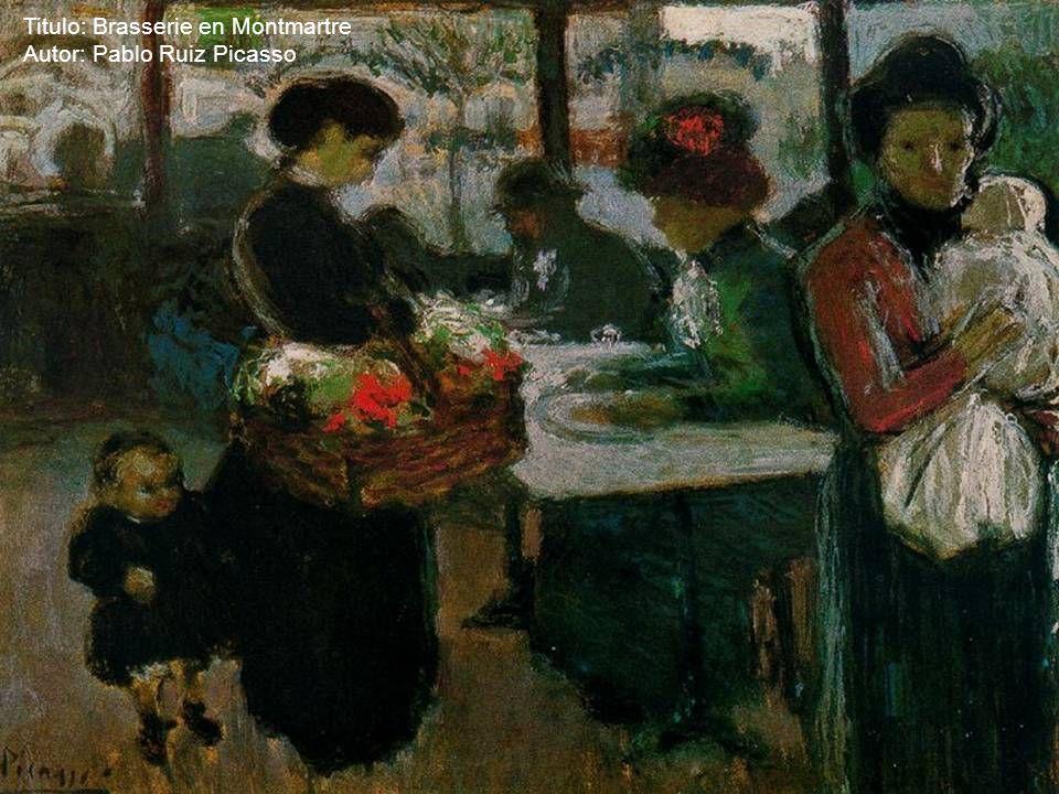 Titulo: Brasserie en Montmartre