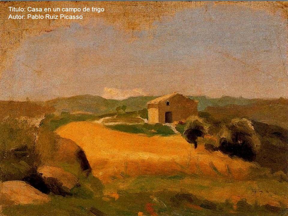 Titulo: Casa en un campo de trigo