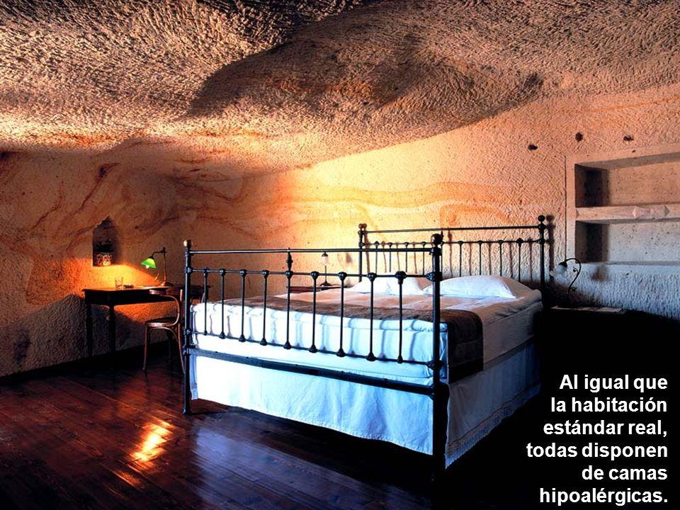 Al igual que la habitación estándar real, todas disponen de camas hipoalérgicas.