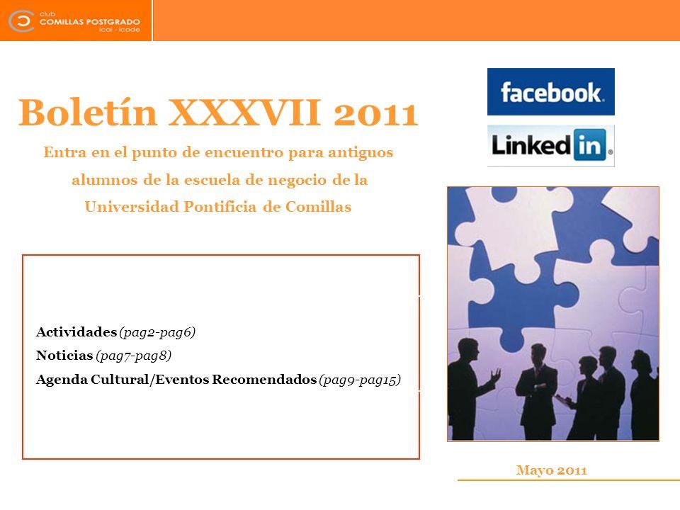 Boletín XXXVII 2011 Entra en el punto de encuentro para antiguos
