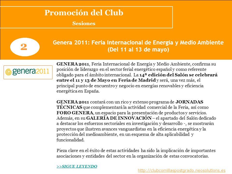 Genera 2011: Feria Internacional de Energía y Medio Ambiente
