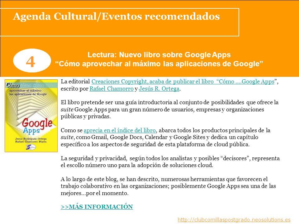 4 Agenda Cultural/Eventos recomendados