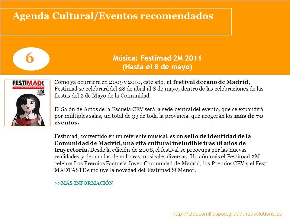 Agenda Cultural/Eventos recomendados