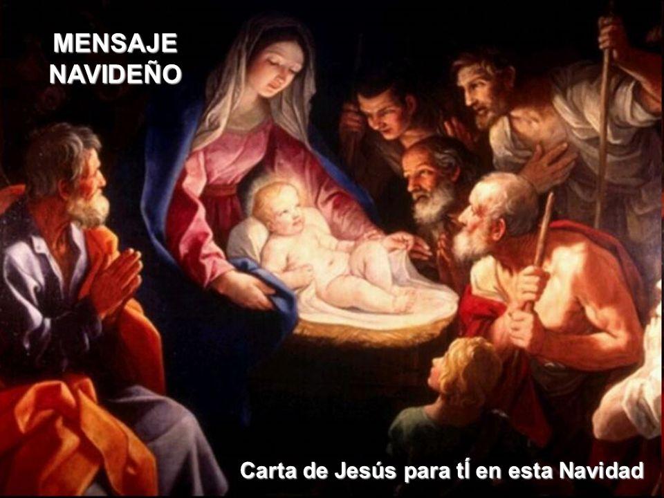 Carta de Jesús para tÍ en esta Navidad