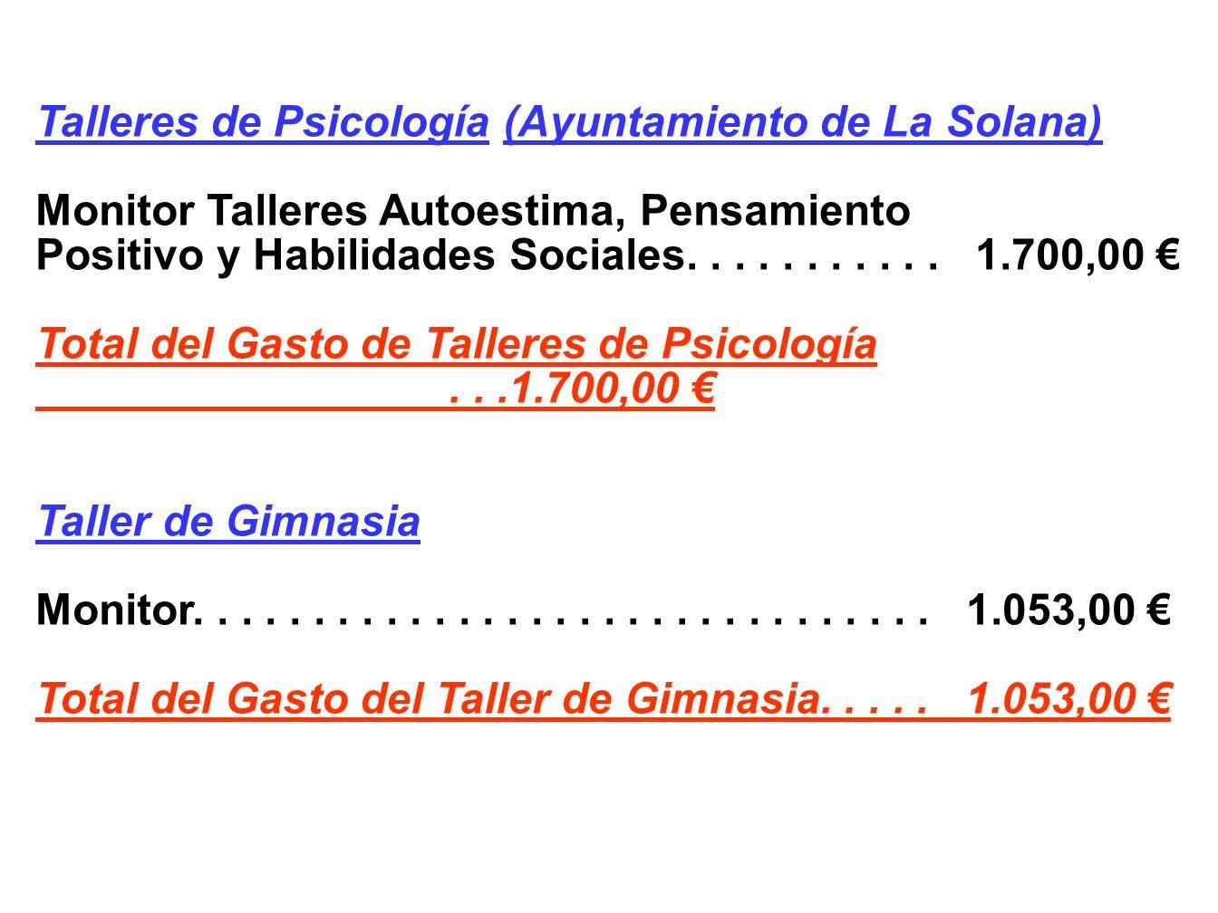 Talleres de Psicología (Ayuntamiento de La Solana)