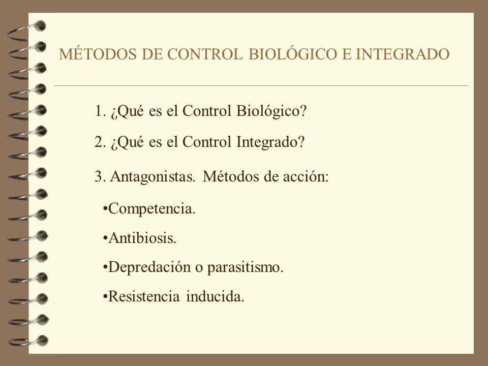 MÉTODOS DE CONTROL BIOLÓGICO E INTEGRADO