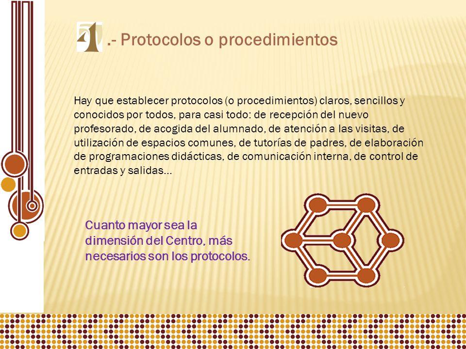 .- Protocolos o procedimientos