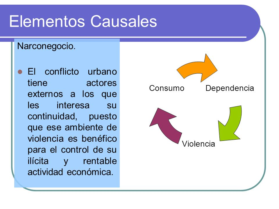 Elementos Causales Narconegocio.