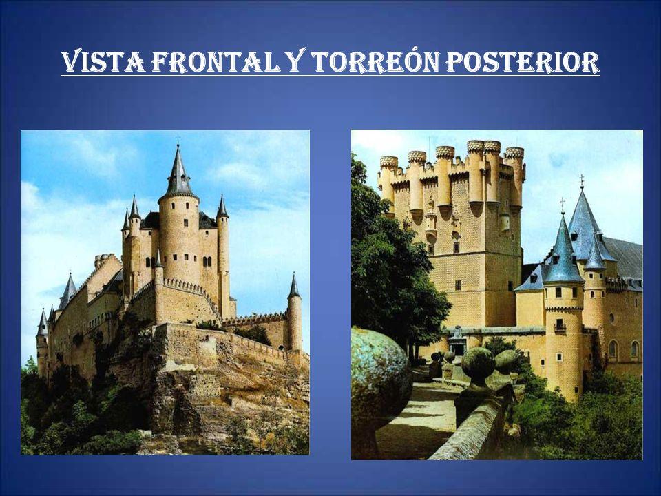 Vista frontal y torreón posterior