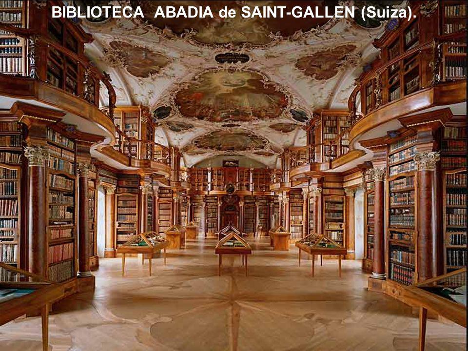 BIBLIOTECA ABADIA de SAINT-GALLEN (Suiza).