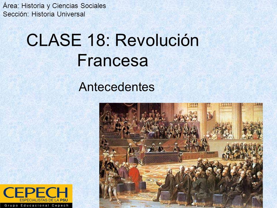 CLASE 18: Revolución Francesa
