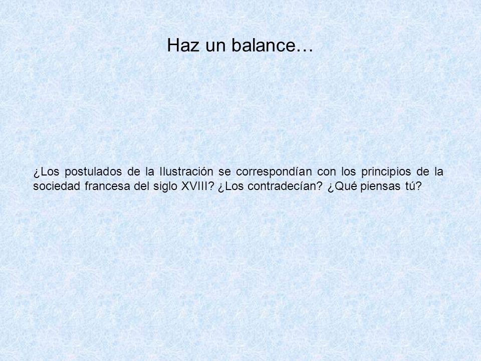 Haz un balance…