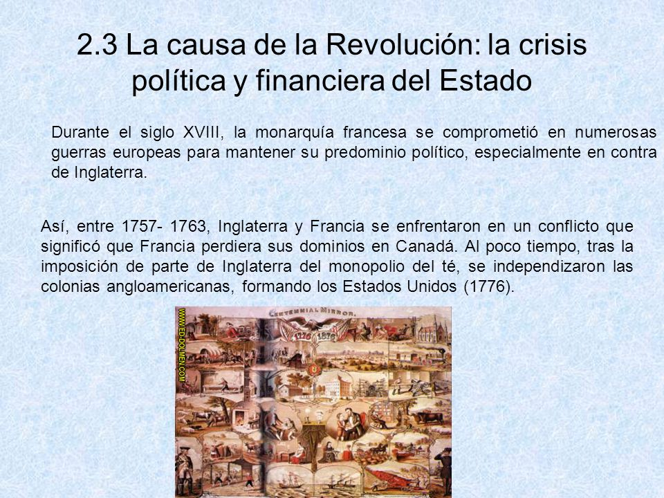 2.3 La causa de la Revolución: la crisis política y financiera del Estado