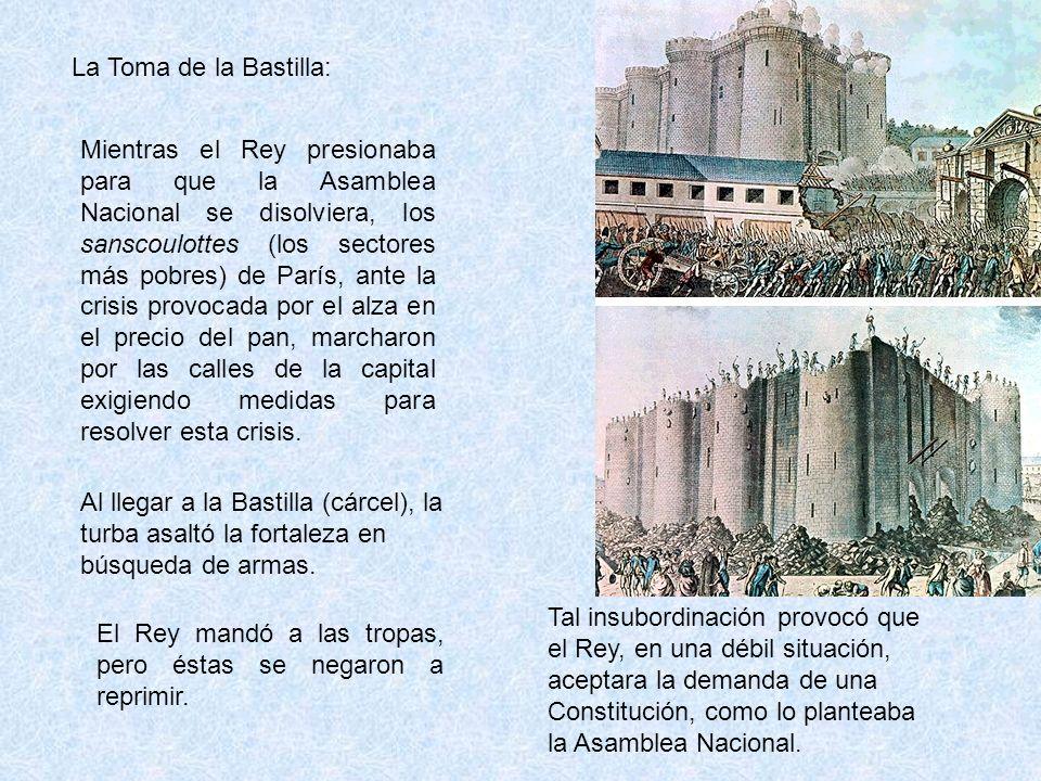 El Rey mandó a las tropas, pero éstas se negaron a reprimir.