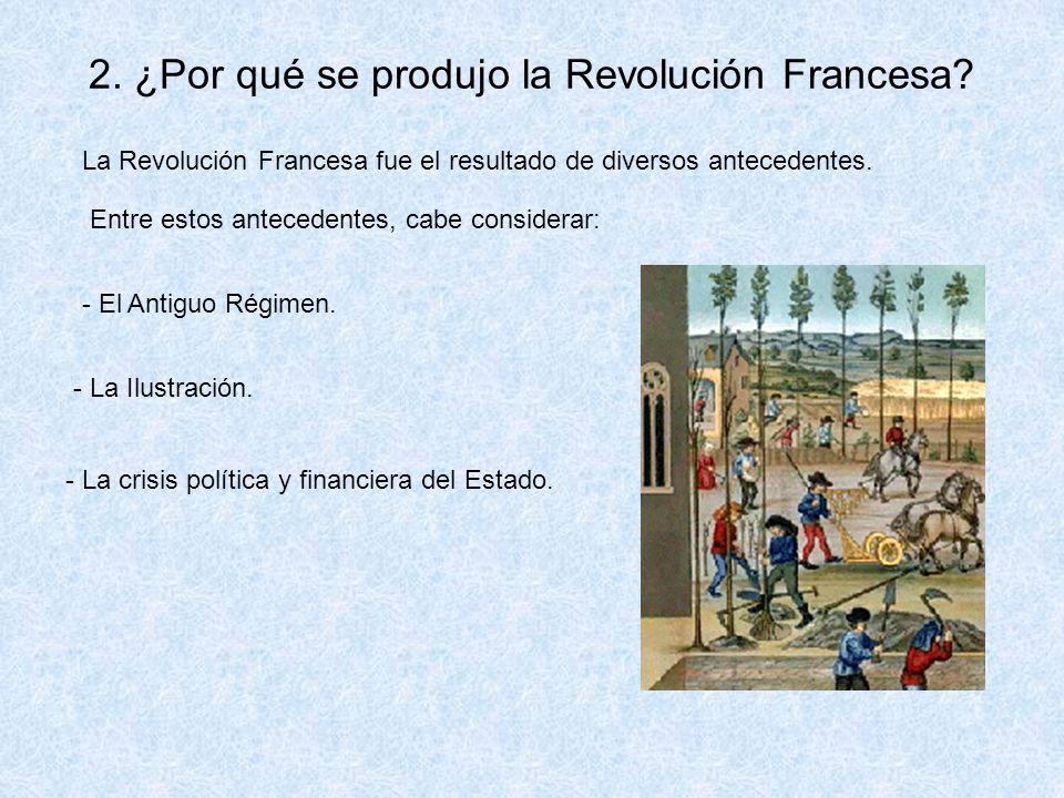 2. ¿Por qué se produjo la Revolución Francesa